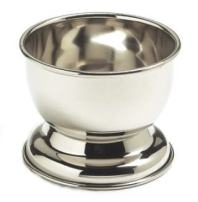 GBS Modern Contemporary Durable Shave Soap Bowl with High Quality Stainless Steel (All Natural Soap Included)