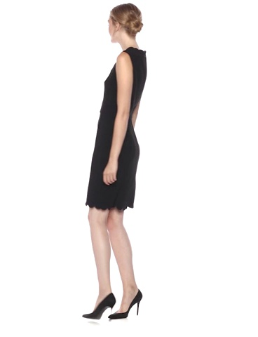 French Connection Women's Whisper Light Stretch Scalloped Mini Dress