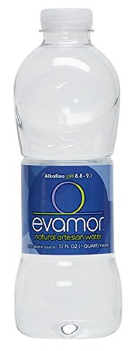 Evamor Natural Alkaline Artesian Water-32 Fl Oz (Pack of 6) -Alkaline Natural Artesian Water, Plastic Water Bottles, Recyclable