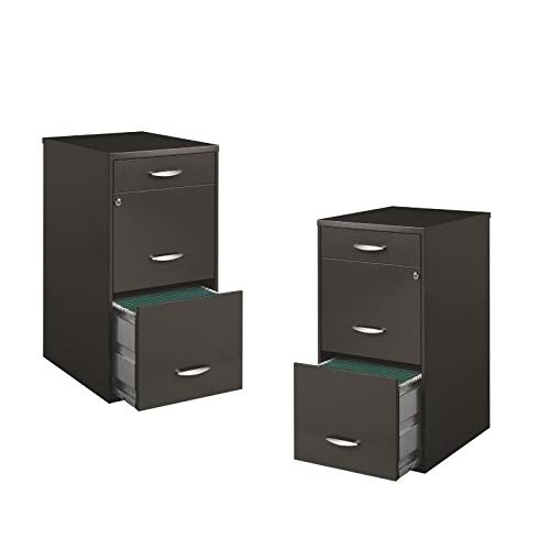 Value Pack (Set of 2) 3 Drawer File Cabinet in Charcoal