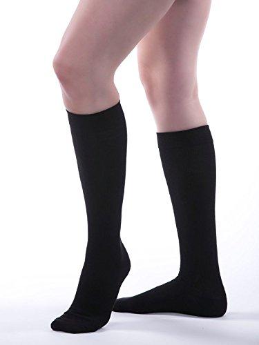 Allegro 15-20 mmHg Premium 112 Italian Cotton Knee High Compression Sock