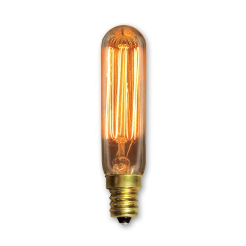 Bulbrite Incandescent T6 Candelabra Screw Base (E12) Light Bulb, 25 Watt, Antique