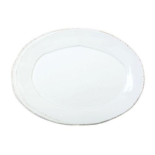 Vietri Lastra White Small Oval Platter