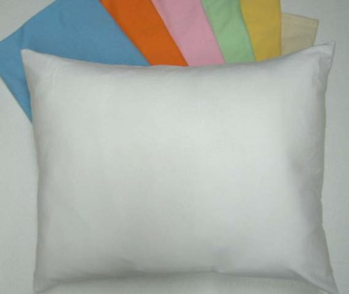 SheetWorld Comfy Travel Pillow Case - 100% Soft Cotton Jersey Knit - Baby Blue - Made In USA