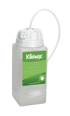 Kleenex Green Certified Foaming Hand Soap (11285), Unscented, Clear, 1.5 L Under-Counter Bottles, 2 Units / Case