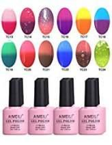 AIMEILI Soak Off UV LED Gel Nail Polish Multicolor/Mix Color/Combo Color Set Of 12pcs X 10ml - Kit Set 9