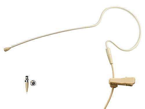 Pro Earhook Headworn Microphone Headset Microphone Compatible with AKG Samson Wireless Bodypack Transmitter - Mini XLR TA3F Connector