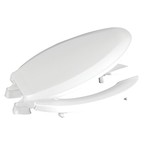 """Centoco HL820STS-001 Elongated 2"""" Lift, Raised Plastic Toilet Seat, Open Front with Cover, ADA Compliant Handicap Medical Assistance Seat, White"""