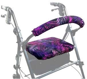 Crutcheze Walker Cover - Tropical Leaves Rollator Seat and Backrest Cover - Walker Accessory is Water-Resistant & Protects from Wear - Made in USA