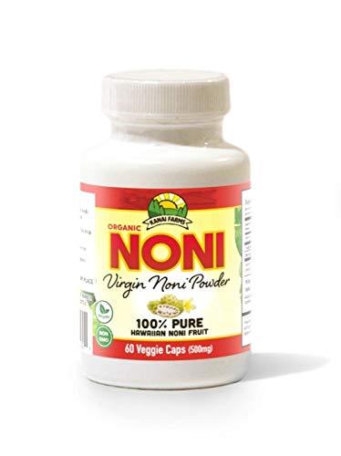 Virgin Noni Powder - 100% Pure Noni Powder Capsules, Certified Organic