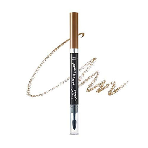 Etude House Drawing Eye Brow Proof Gel Pencil (#02 Natural Brown) | Waterproof Eyebrow Pencil | Natural Eyebrows that Last For a Long Time