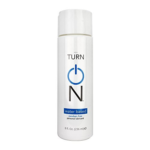Turn On Personal Water Based Lubricant, 8 Ounce Bottle for Smooth Skin, Easy Clean-Up, and No Sticky Mess