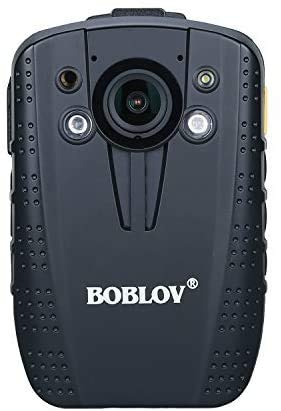 BOBLOV HD31 Body Camera 1296P 14MP Security Police Body Worn Camera IR Night Vision 8Hours Rec 140° Lens with Extra Car Charger as Dash Cameras Mode (Built-in 64G)
