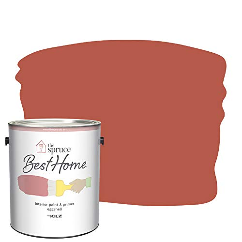 The Spruce Best Home by KILZ 15117701 Interior Eggshell Paint & Primer in One, 1 Gallon, SPR-01 Persimmon Orange
