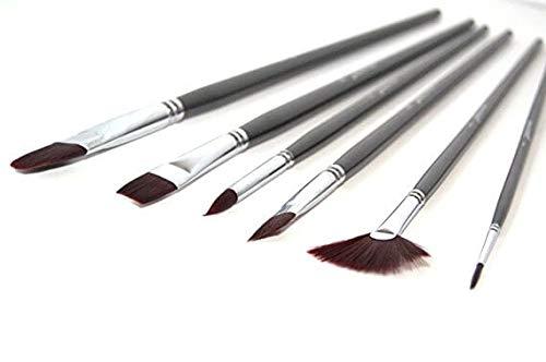 Synthetic Nylon Paintbrush Set- Wonderful for Acrylic Watercolor Face and Body Professional Painting Kit Shoe Paint Brush