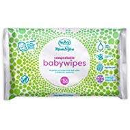 Mum & You Biodegradable and Compostable Plastic Free Baby Wet Wipes 336 Count (6 Packs of 56) - 98% Water, 0% Plastic, Hypoallergenic & Dermatologically Tested