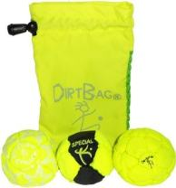 Dirtbag Medley Footbag Hacky Sack 3 Pack - Fluorescent Yellow/Black