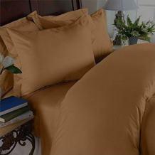Elegant Comfort 1500 Thread Count Wrinkle Resistant Egyptian Quality 3-Piece Duvet Cover Set, Full/Queen, Bronze