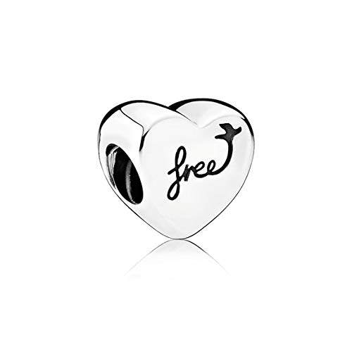 PANDORA Jewelry Heart of Freedom Sterling Silver Charm