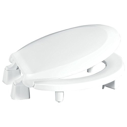 "Centoco 3L440STS-001 Round 3"" Lift, Raised Plastic Toilet Seat, Closed Front with Cover, ADA Compliant Handicap Medical Assistance Seat, White"