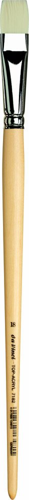 da Vinci Oil & Acrylic Series 7182 Top Acryl Paint Brush, Bright White Synthetic with Long Natural Polished Handle, Size 18 (7182-18)