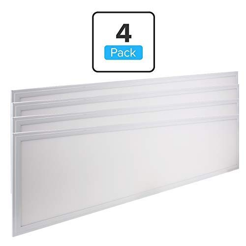 LEDMyplace (4-Pack) 1x4 ft LED Panel Light, 40W,(Replaces 150W),5000k, 4000 Lumens, 120° Beam Angle, 0-10V Dimmable LED Flat Panel Light, 12x48 Inch LED Drop Ceiling Panel Lights, ETL, DLC Listed