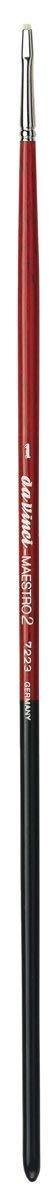 da Vinci Hog Bristle Series 7223 Maestro 2 Artist Paint Brush, Flat Extra-Short with Red Handle, Size 1