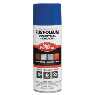 Rust-Oleum 1624830 Safety Blue 1600 System General Purpose Enamel Spray Paint, 16 fl. oz. container, 12 oz. weight fill, Can (Pack of 6)