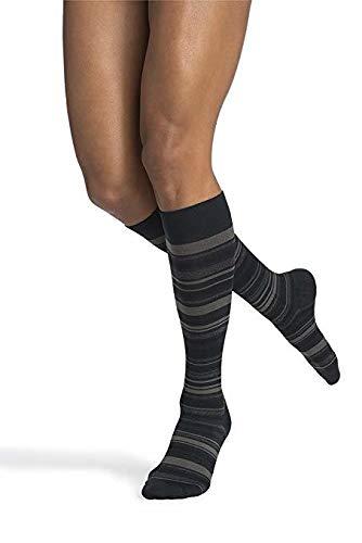 SIGVARIS Women's Microfiber Shades 143 Calf High Compression Socks 15-20mmHg