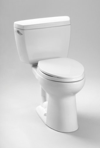 TOTO CST744EL#11 Eco Drake Two-Piece Elongated 1.28 GPF ADA Compliant Toilet, Colonial White