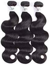 Igrina 8A Brazilian Virgin Hair Body Wave 3 Bundles Deals Remy Human Hair Bundles Weave Body Wave Bundles Good Cheap Weave Wet And Wavy Human Hair Extensions 100g/piece Natural Color (12 14 16 inch)