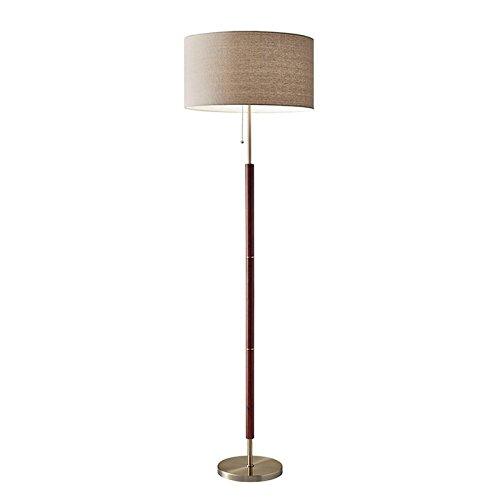 "Adesso 3377-15 Floor Lamp Hamilton Floor Lamp, Smart Outlet Compatible, 65.5"" x 19"" x 18"", Silver"