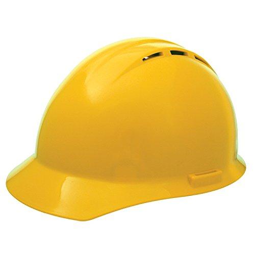ERB 19452 Americana Vent Cap Style Hard Hat with Mega Ratchet, Yellow