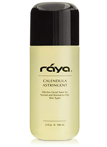 RAYA Calendula Astringent with AHA 6 oz (G-206) | Glycolic Facial Toner for Combo and Partially Oily Skin Prone to Break-Outs | Helps Normalize pH and Fight Bacteria | Made With Alpha Hydroxy Acids