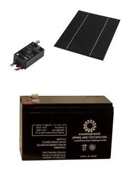 SolarSynthesis 6-Watt 12-Volt Monocrystalline Solar Starter Kit with 6-Watt Solar Panel + 5A PWM Charge Controller + 7Ah 12-Volt (84-Watt) Solar Rechargeable Battery (6-Watt Panel / 84-Watt Battery)