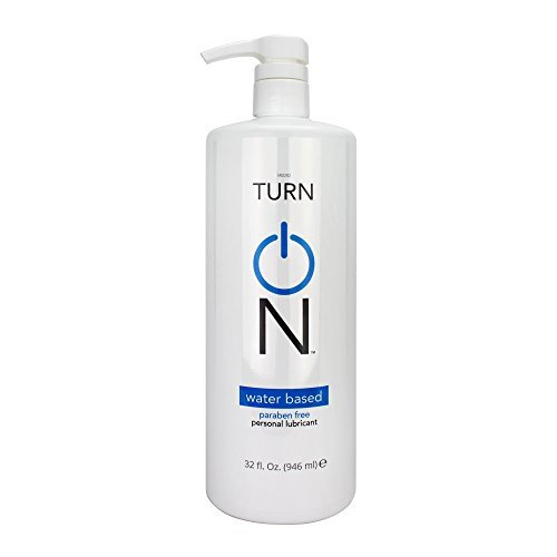 Turn On Personal Water Based Lubricant, 32 Ounce Bottle for Smooth Skin, Easy Clean-Up, and No Sticky Mess