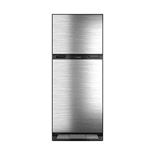Furrion 10 cu.ft. Furrion Arctic 12 Volt Right Hinge Built-In Refrigerator (Black) for RV, Camper or Trailer with Independent Freezer - Stainless Steel Door Panel - FCR10DCDTA-BL-SV