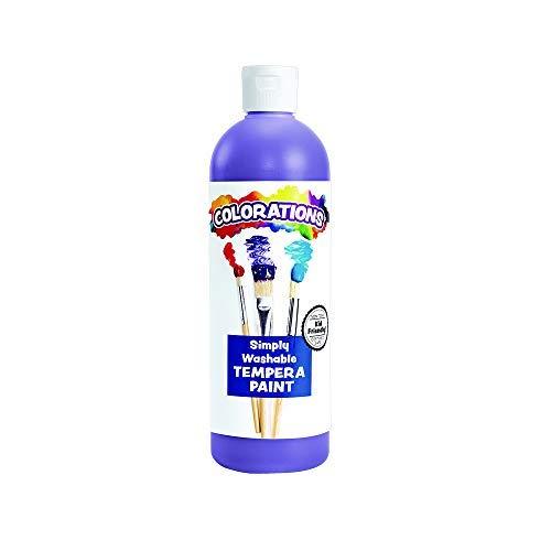 Colorations Washable Tempera Paint, 16 fl oz, Violet, Non Toxic, Vibrant, Bold, Kids Paint, Craft, Hobby, Fun, Art Supplies