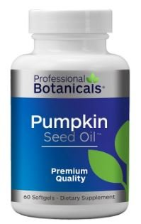 Professional Botanicals Pumpkin Seed Oil 1000mg - Natural Source of Essential Fatty Acids - Great for Hair Growth, Prostate Health, Joint Inflammation and GI Tract - 60 Soft gels