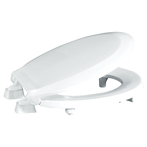 "Centoco HL440STS-001 Round 2"" Lift, Raised Plastic Toilet Seat, Closed Front with Cover, ADA Compliant Handicap Medical Assistance Seat, White"