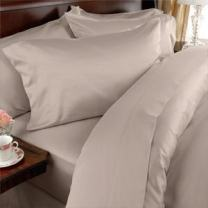"""1800 Series Luxury Silky Soft 4 Piece Bed Sheet Set, Deep Pocket Up to 16"""" - Wrinkle Resistant and Colors, Full, Beige"""