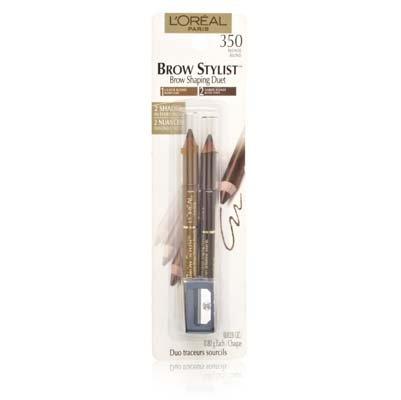 L'Oreal Paris Brow Stylist Duet, 350 Blonde, 0.56 Ounce