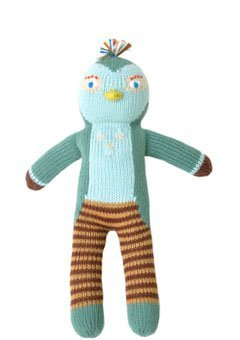 Blabla Figaro The Bird Mini Plush Doll - Knit Stuffed Animal for Kids. Cute, Cuddly & Soft Cotton Toy. Perfect, Forever Cherished. Eco-Friendly. Certified Safe & Non-Toxic.