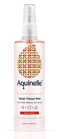Aquinelle Toilet Tissue Mist, Eco-Friendly & Non-Clogging Alternative to Flushable Wipes Simply Spray On Any Folded Toilet Paper (3.25 oz Coco Beach)