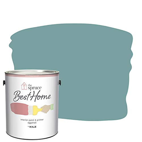 The Spruce Best Home by KILZ 15120701 Interior Eggshell Paint & Primer in One, 1 Gallon, SPR-11 Antique Teal