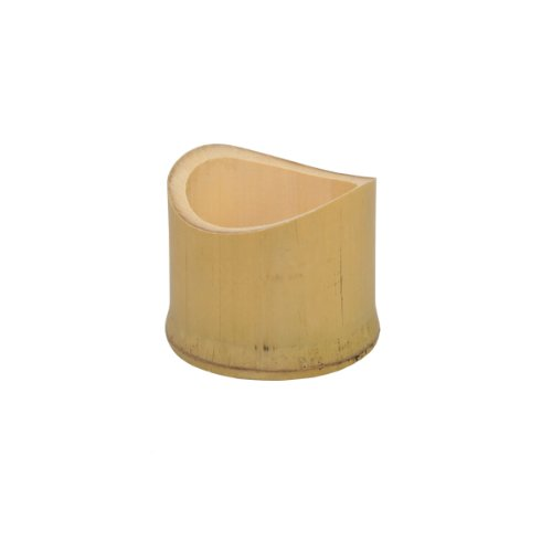 """Tamago"" Oblique Cut Bamboo Tube Cup (Case of 20), PacknWood - Kitchen Serving Mug for Food or Drink (1.5 oz, 1.6"" Tall) PK209BBTAMAGO"