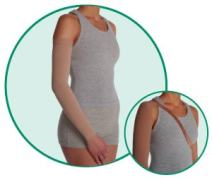 Juzo Dynamic Varin 3512 30-40mmhg Armsleeve with Silicone Top Band for Women