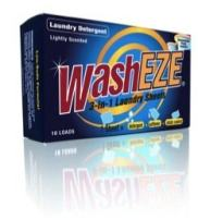 WashEZE 3-in-1 Laundry Detergent Sheets, Scented, 120 Count (Free Shipping) Includes All of Your Laundry Needs!
