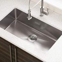 MOCCOA 16 Gauge Stainless Steel Kitchen Sink, Undermount Single Bowl (Pro 28-Inch)