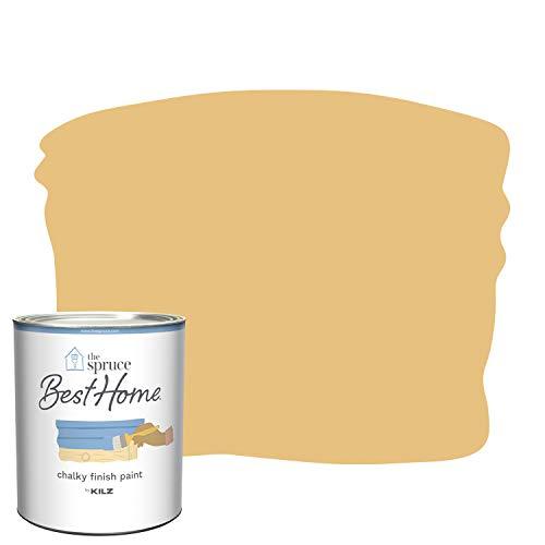 The Spruce Best Home by KILZ 14204 Chalky Finish Paint, 1 Quart, SPR-C04 Lemon Cream